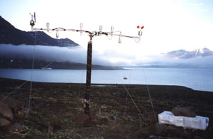 The monitoring station in Mellemfjord.